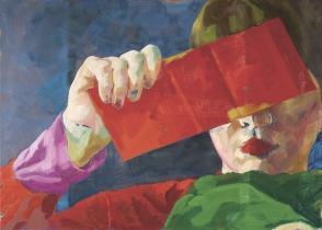 ON THE EDGE    2016     Oil on Dibond     55 x 77 cm