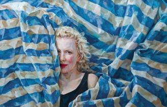 GONE GIRL    2014    Oil on paper on Dibond    129 x 201 cm