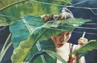 INDIGO (YAO)    2013       Oil on Dibond     87,5 x 134 cm