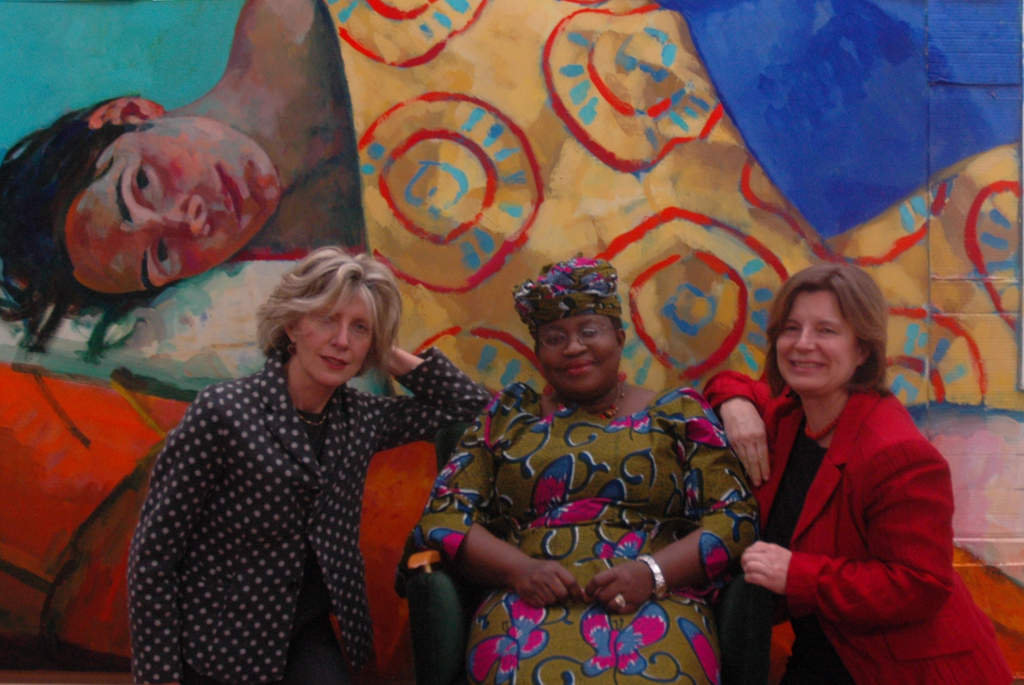 Xenia Hausner, Ngozi Okonjo-Iweala, former finance and foreign minister of Nigeria, Dr. Edit Schlaffer, Founder and Executive Director of Women without Borders/SAVE